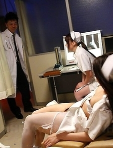 Nurse gets a huge dick in her pussy