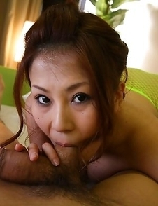 Yuki Aida sucks and swallows jizz